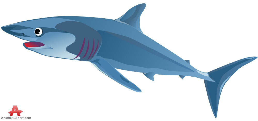 Blue shark clipart design free clipart design download.