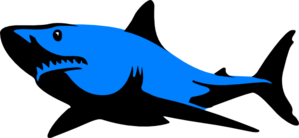 Blue.shark Clip Art at Clker.com.