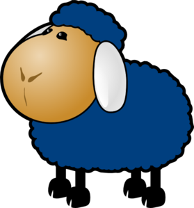 Blue Sheep Clip Art at Clker.com.