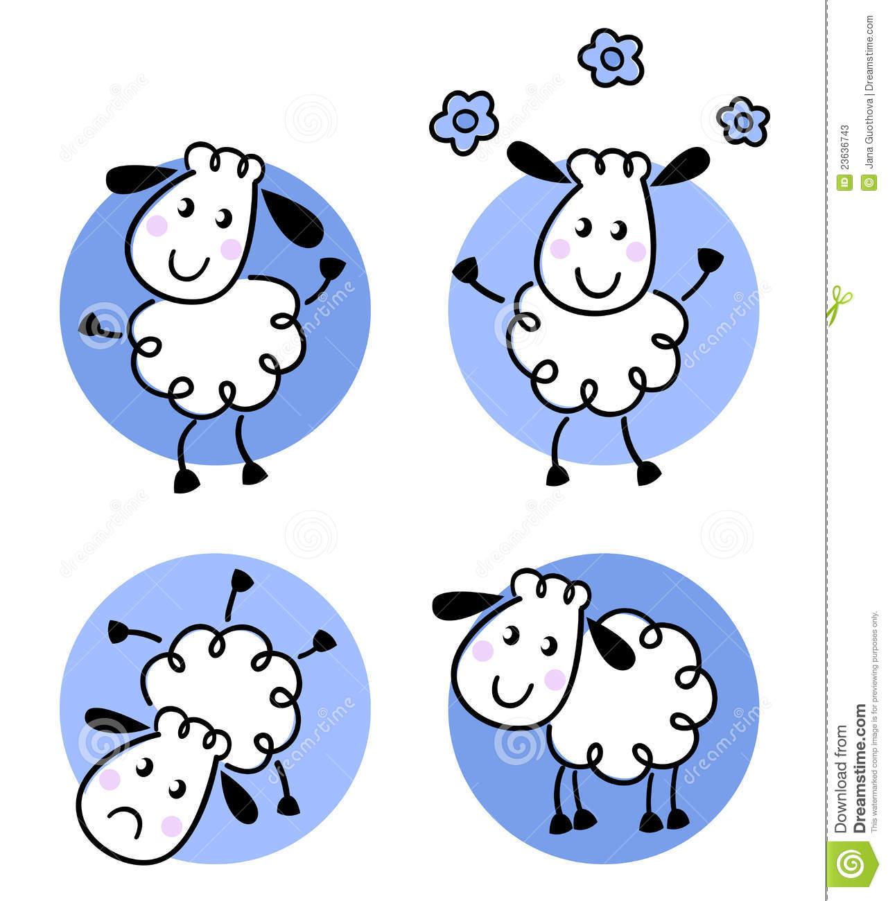 Baby Lamb Clip Art.