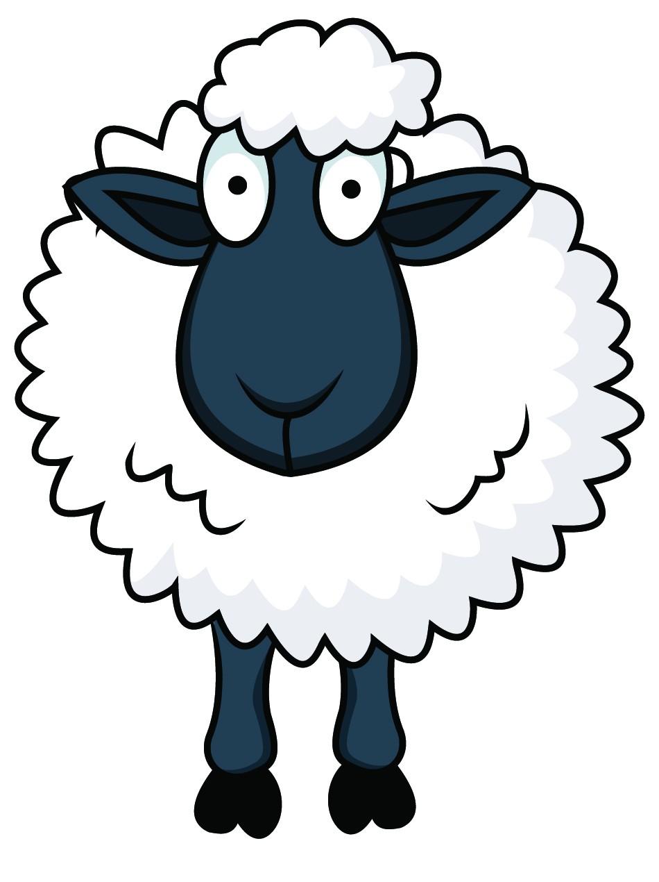 Sheep clipart cartoon.