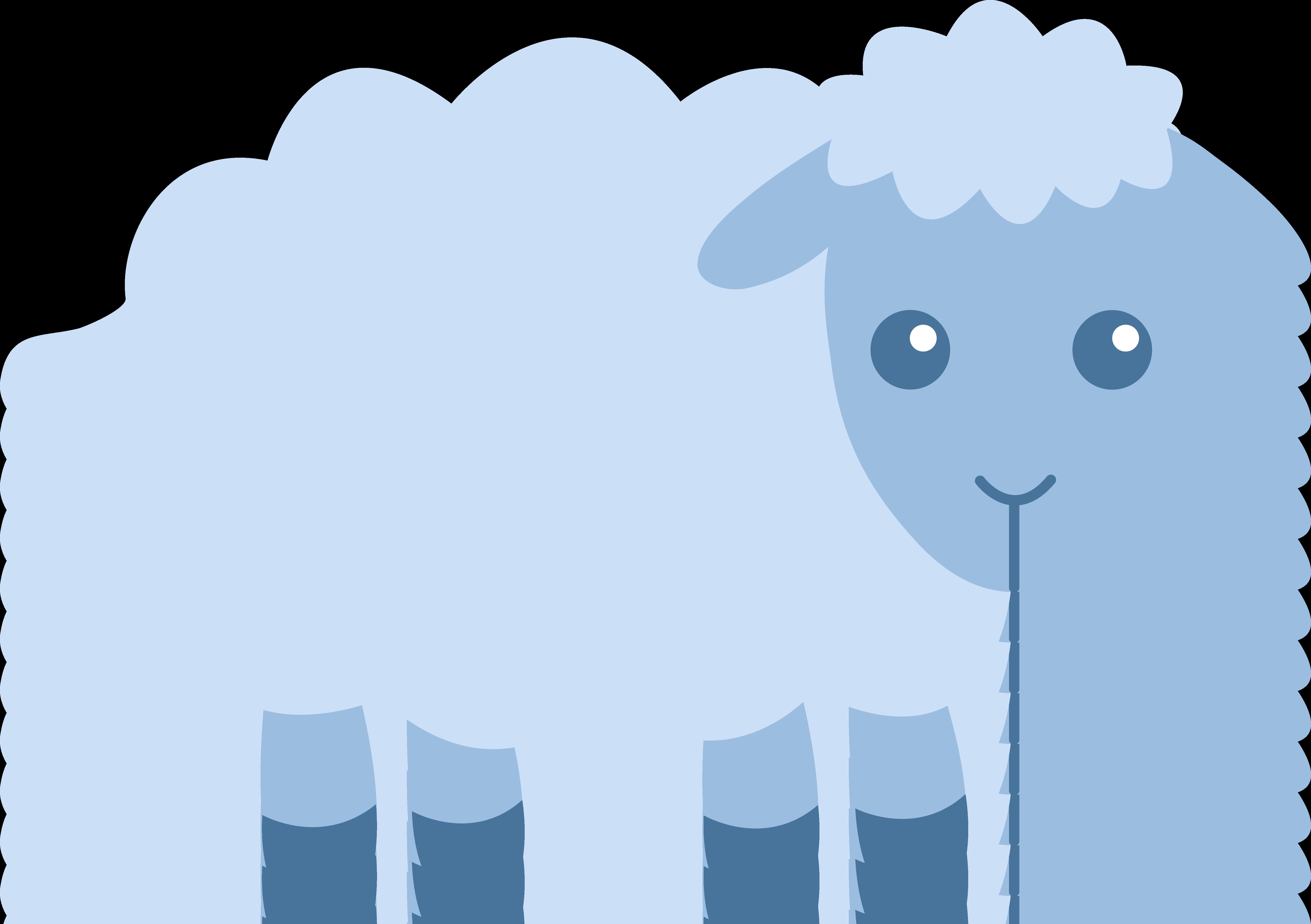 Cute Blue Sheep.
