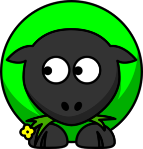 Where is green sheep clipart.