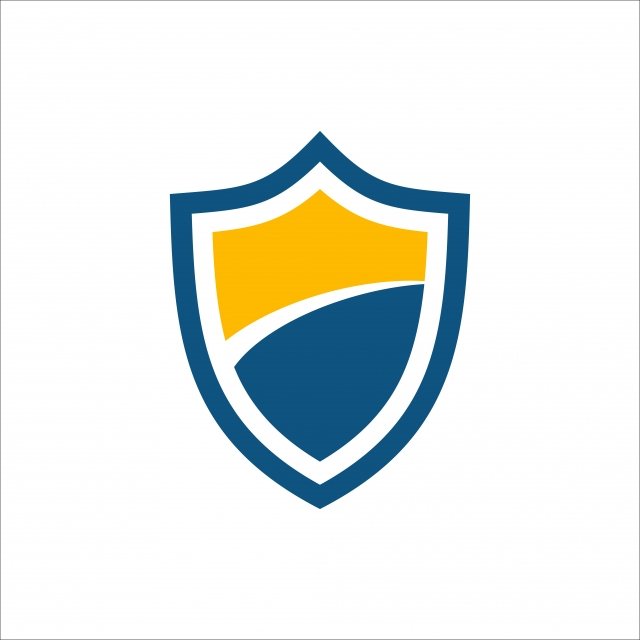 Blue And Orange Shield Icon, Vector, Blue, Shield PNG and Vector.