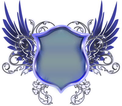 Download Free png Blue Shield With Wings PNG.