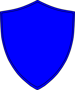 Royal Blue Shield PNG, SVG Clip art for Web.