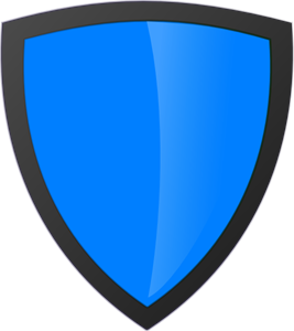 Blue Shield With Dark Edge PNG, SVG Clip art for Web.