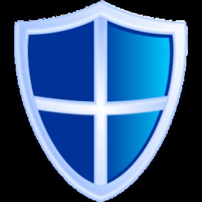 Blue shield PNG image.