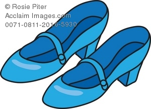 Light Blue Shoes Royalty Free (RF) Clip Art Picture.
