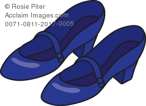 Dark Blue Women's Shoes Royalty Free (RF) Clip Art Picture.