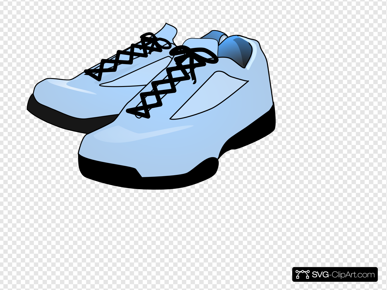 Robin S Egg Blue Shoes Clip art, Icon and SVG.