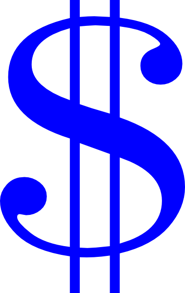Blue Dollar Sign Clip Art at Clker.com.