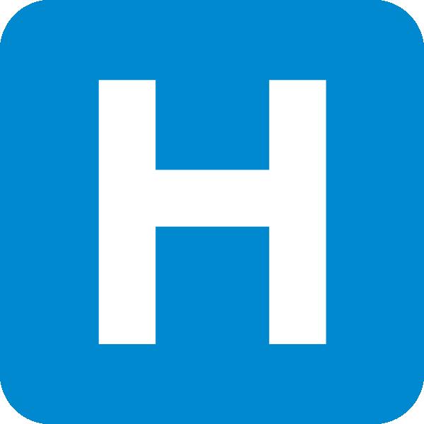 Hospital Blue Sign Clip Art At Clker Com Vector Clip Art Online.
