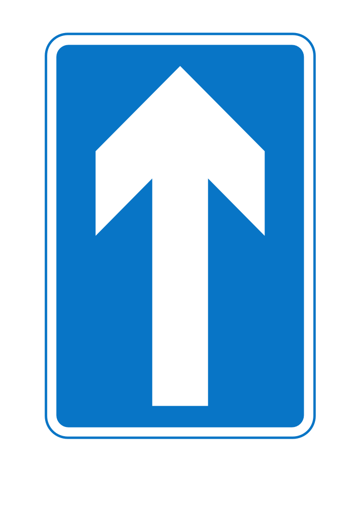 Clipart road direction signs.