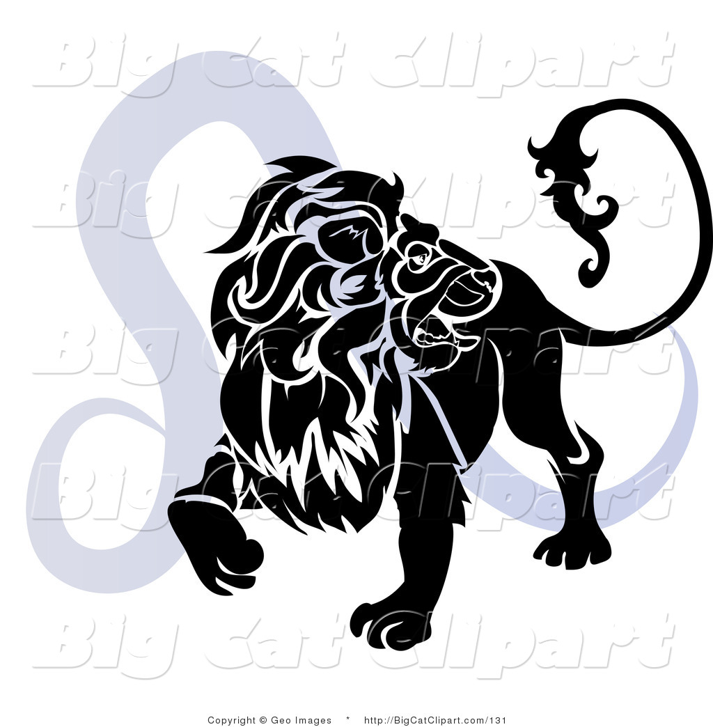 Royalty Free Silhouette Stock Big Cat Designs.