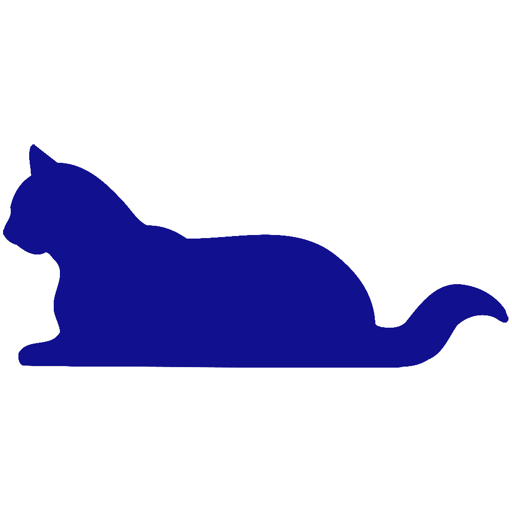 Blue Silhouette Cat Clipart Clipground