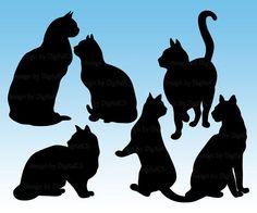 Black Cat Clipart Image.