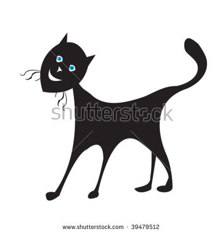 Retro Cats Clip Art Stock Vector 59272018.