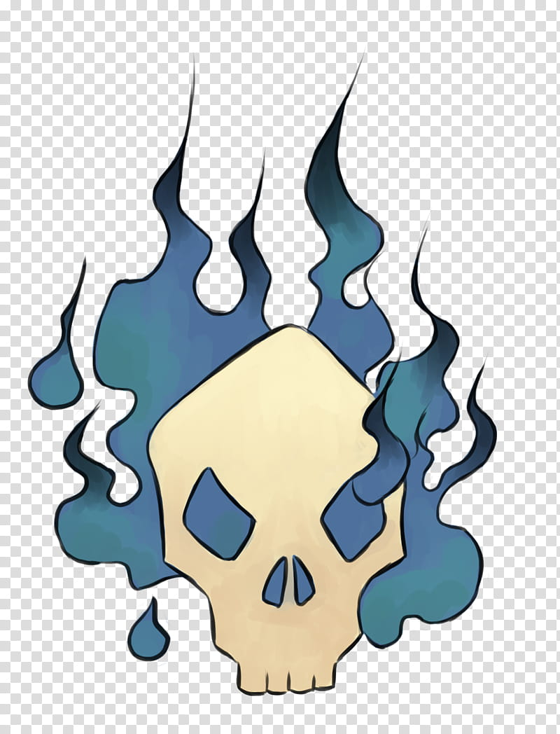 Dino tattoos, white and blue skull illustration transparent.