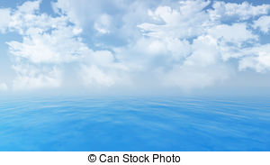 Sky sea blue nature clouds ocean water cloud landscape.