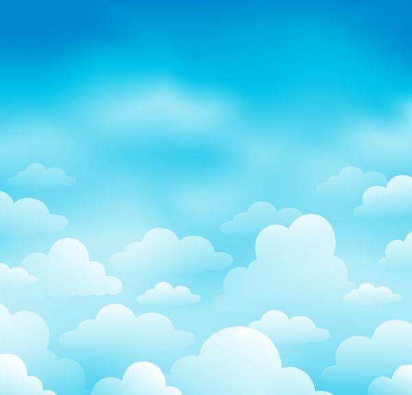White clouds with blue sky vector background 04.