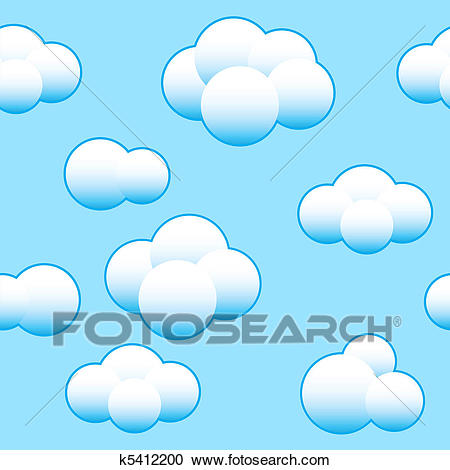 Abstract light blue sky background Clipart.