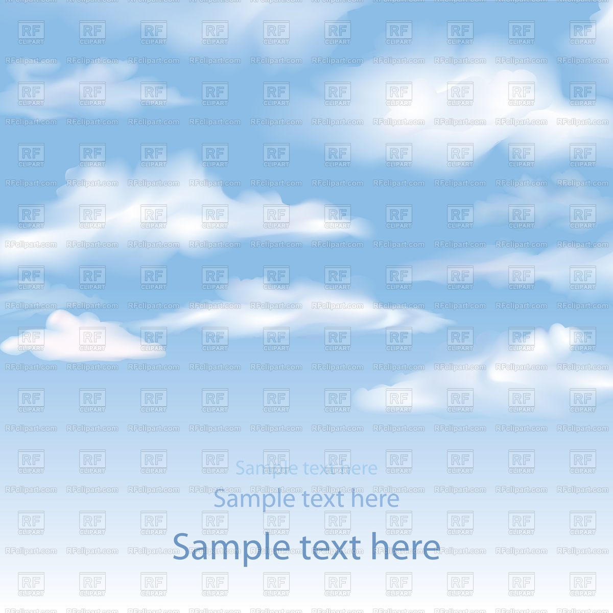 Blue sky with clouds background Stock Vector Image.