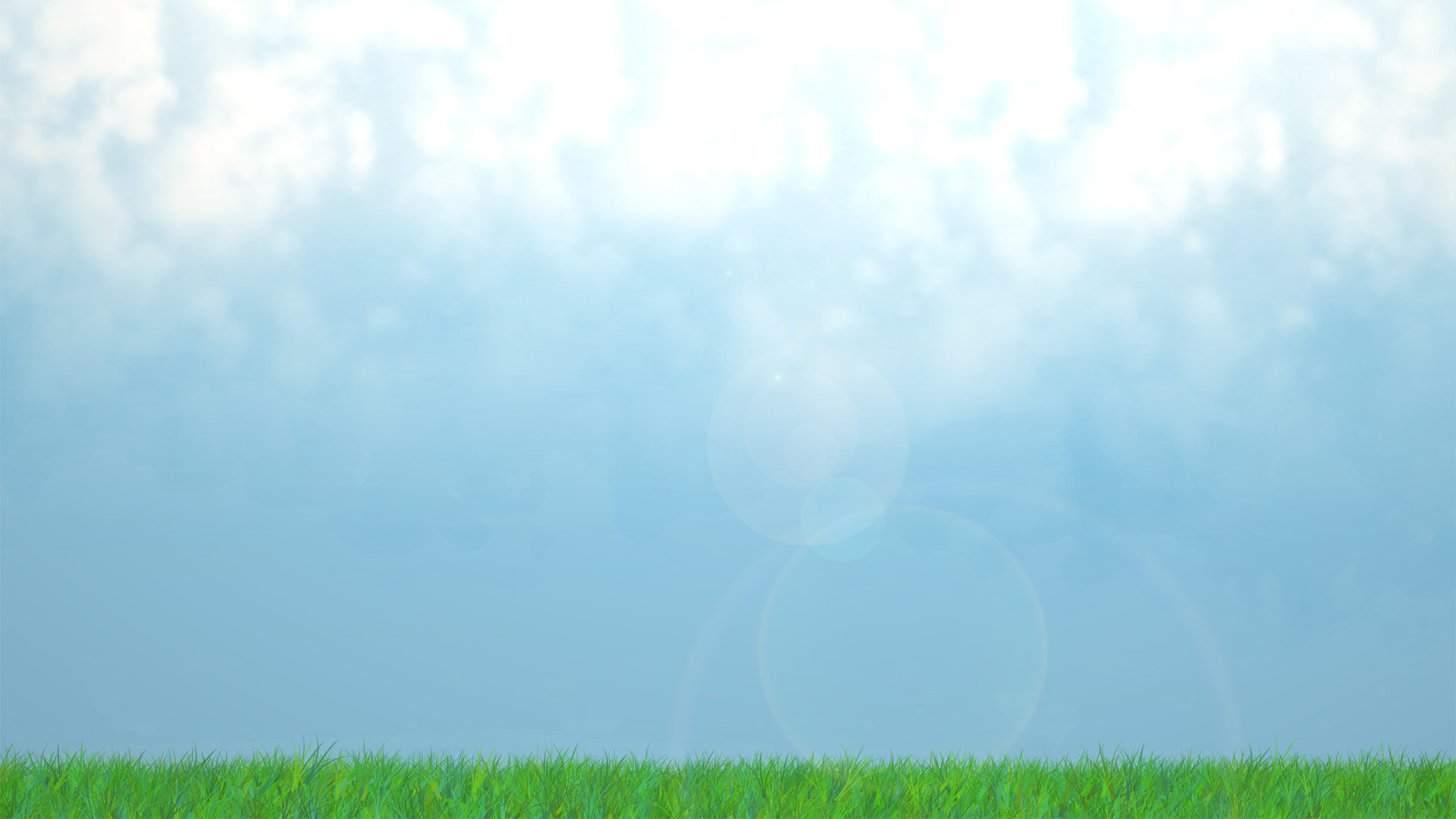 Grass with solid blue sky clipart.