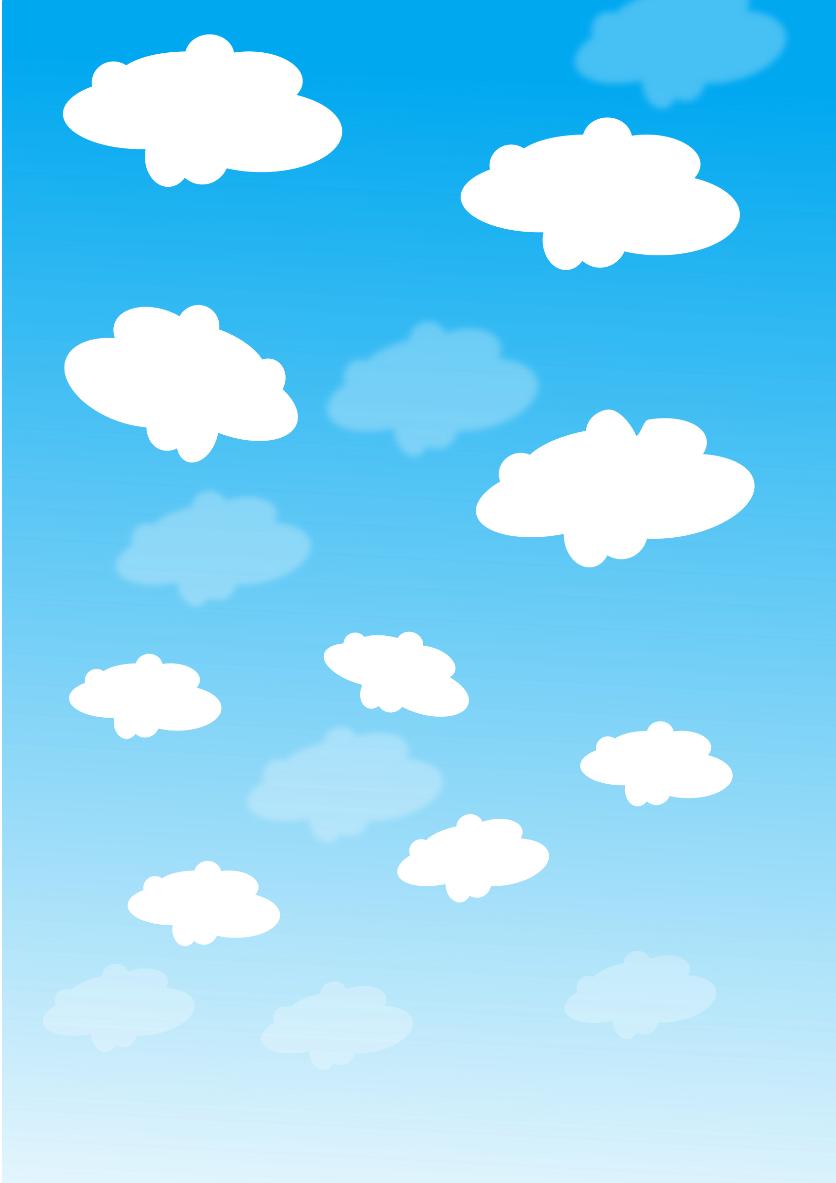 Sky With Clouds Clipart.