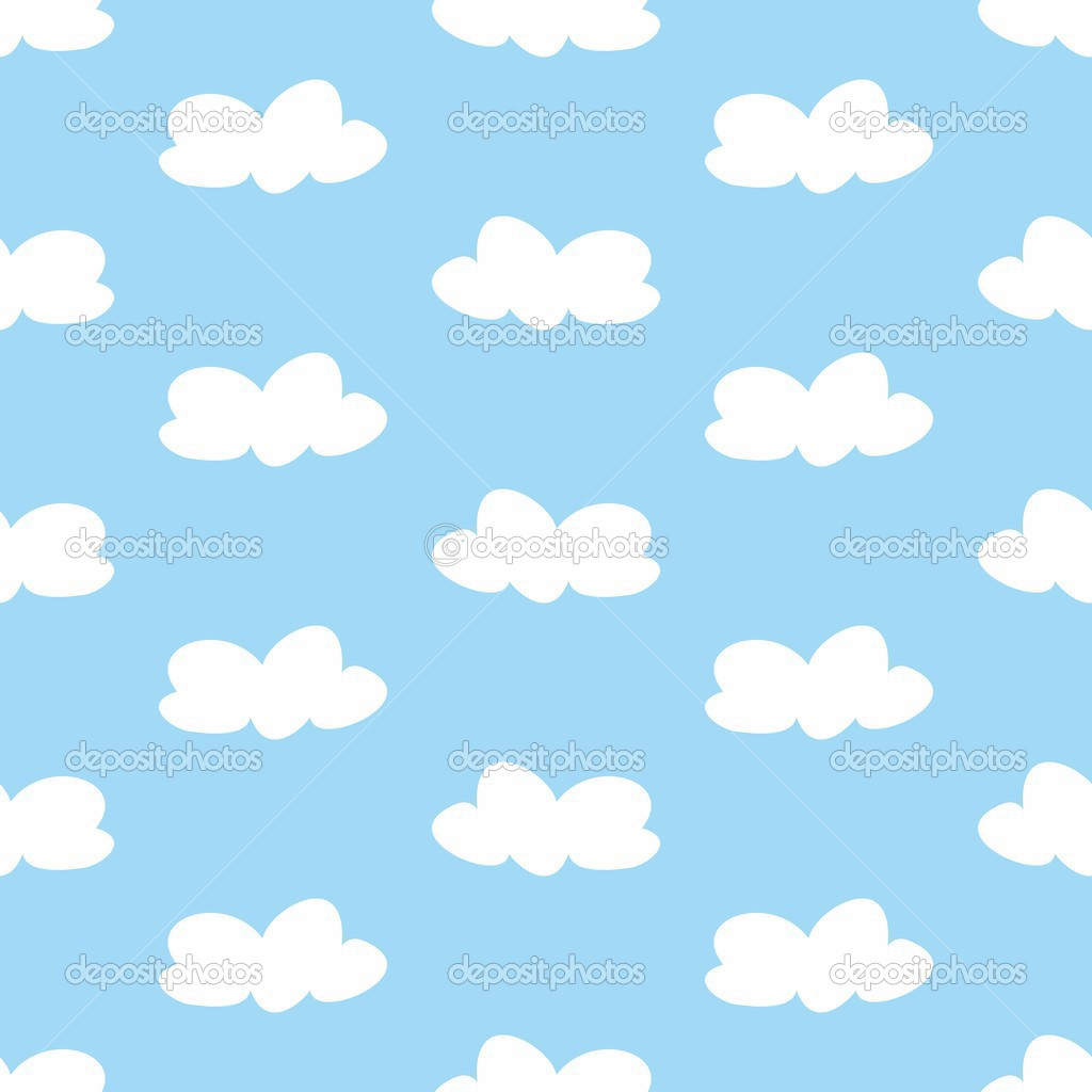 Blue Sky and Clouds Clip Art.