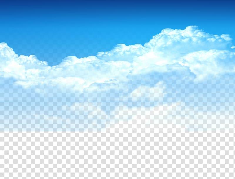 Cloud , Blue sky, white clouds element, Taobao material, cloudy sky.