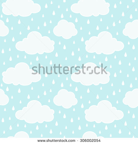 Blue Sky Clouds Silhouettes Snowfall Splash Stock Vector 323219987.