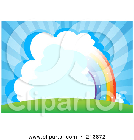 Blue sky spattered with clouds clipart #8