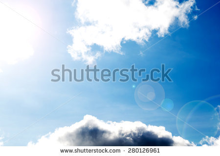 Blue sky spattered with clouds clipart #20