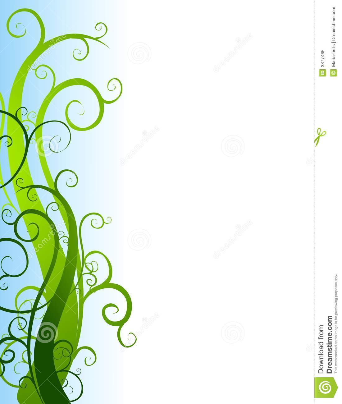 Green Garden Vines Border Royalty Free Stock Photo.