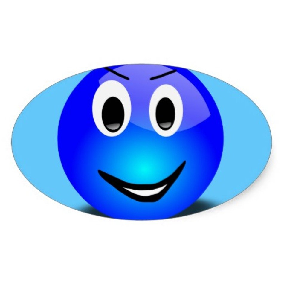 Blue Smiley Face Clip Art N8 free image.