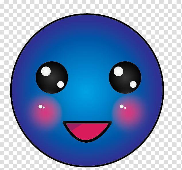 Blue smiley face transparent background PNG clipart.