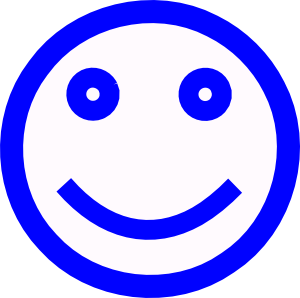 Blue Smiley Face Png.