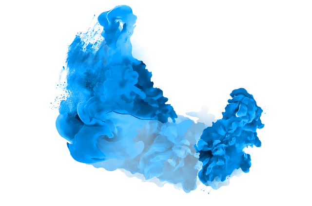 Blue Smoke PNG Background Image.
