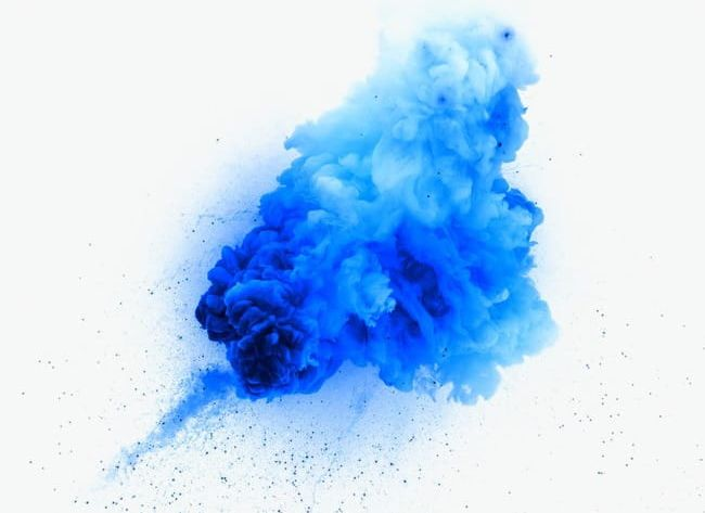 Creative Design Blue Smoke Explosion PNG, Clipart, Background.