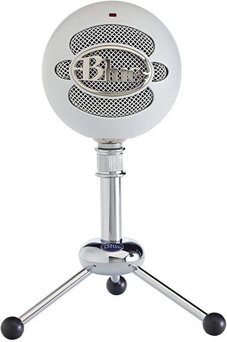 Blue Snowball USB Microphone (Textured White).