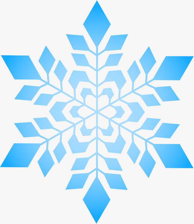 Simple Blue Snowflake, Snowflake Clipart, Simple Snowflake, Falling.