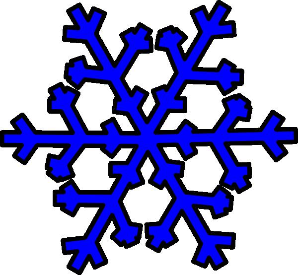 Blue Snowflake Clip Art at Clker.com.