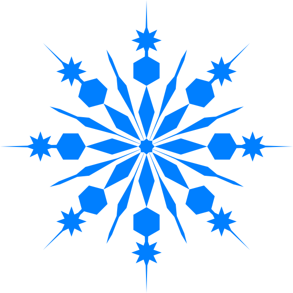 Blue Snowflake Cliparts.