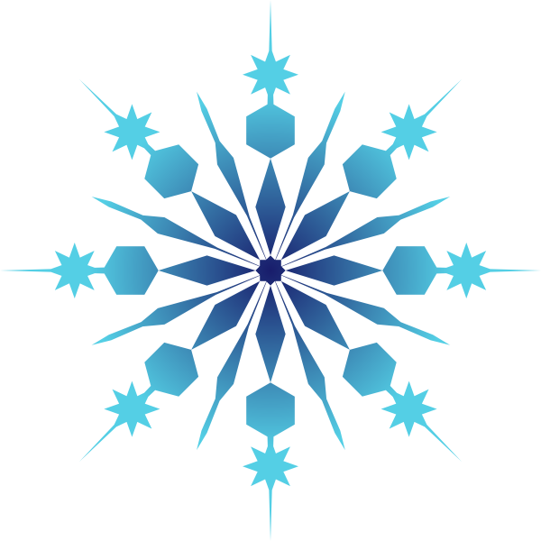 Blue snowflake clipart 6 » Clipart Station.