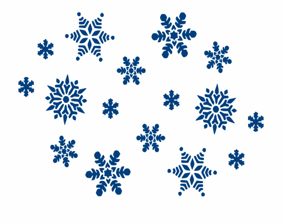 Blue Snowflakes Png.