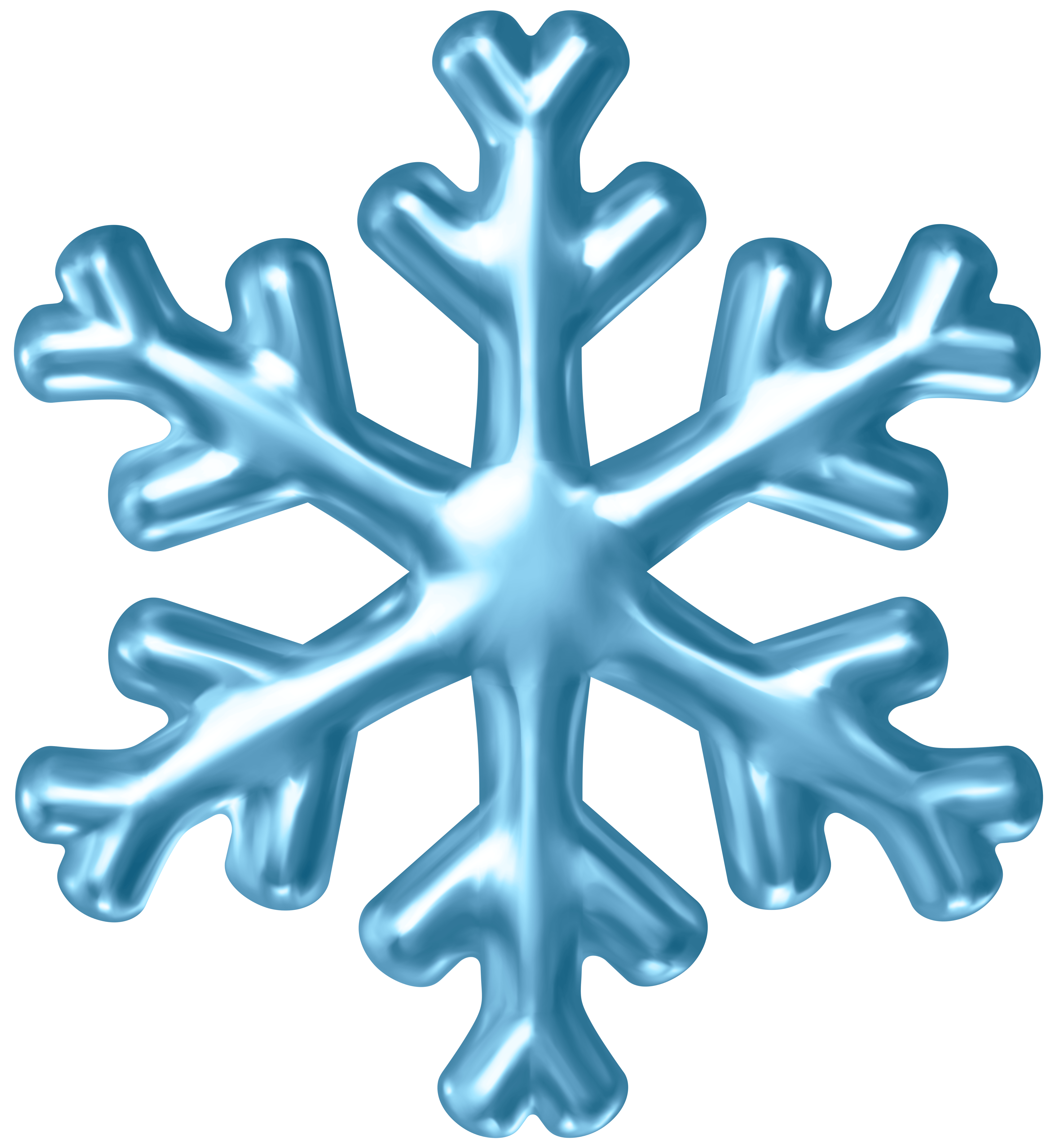 Blue Snowflake PNG Clipart.