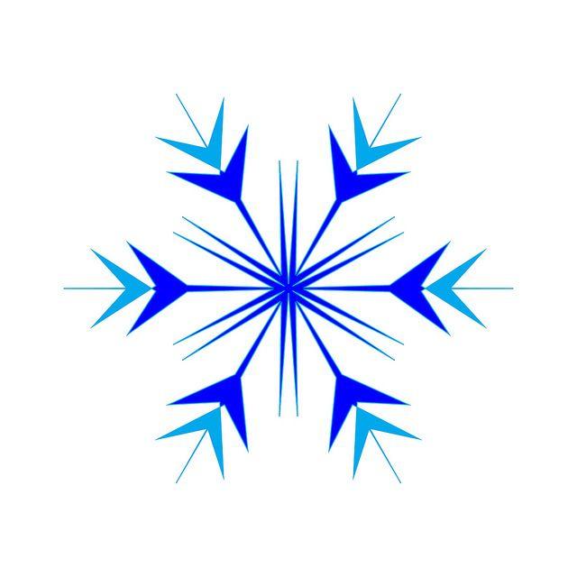 Simple Blue Snowflake Clipart Blue blue simple snowflake.