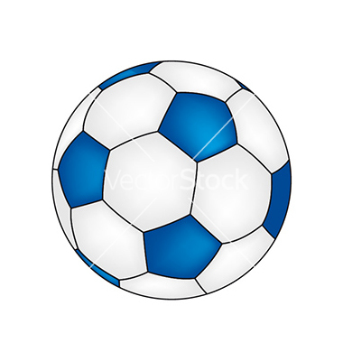 Free Blue Soccer Ball Clipart Image.