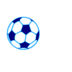 Blue Soccer Ball clipart, cliparts of Blue Soccer Ball free.